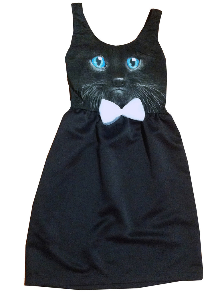 Kitten Face Cocktail Tea Party Dress - IDILVICE Clothing - 1