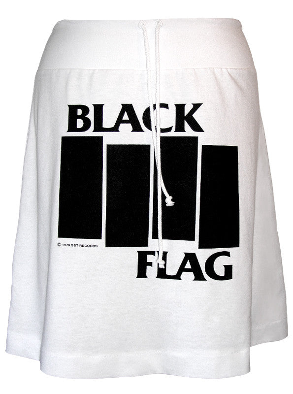 Black Flag Logo Print T-Shirt Skirt - IDILVICE Clothing