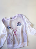 Blue Eyed Kitten Cat Face T-Shirt Jumper - IDILVICE Clothing - 4