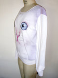 Blue Eyed Kitten Cat Face T-Shirt Jumper - IDILVICE Clothing - 2