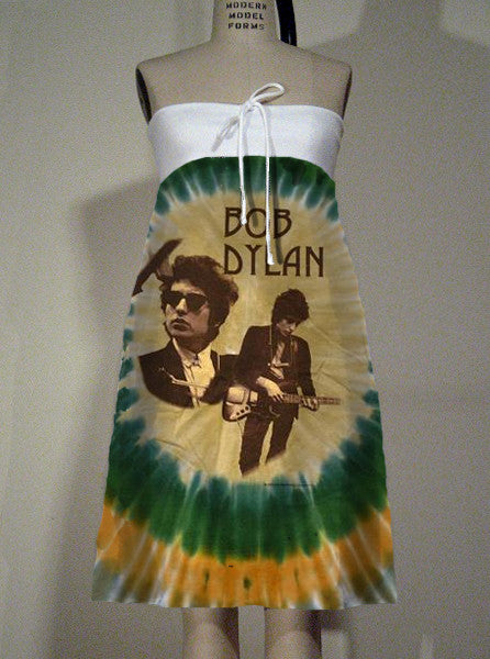 Bob Dylan Tie Dye Strapless Tube Dress - IDILVICE Clothing
