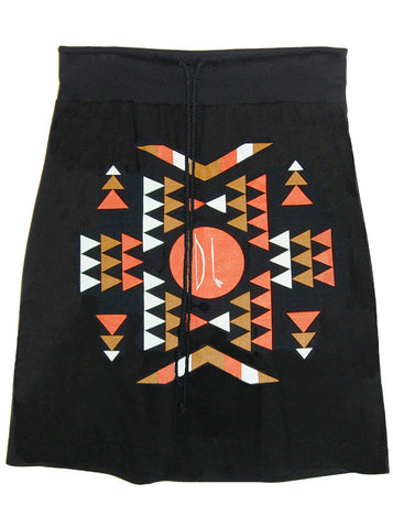 Bow And Arrow Aztec Patterned Drawstring Skirt