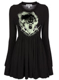 Bride Of Frankenstein Long Sleeve Skater Dress - IDILVICE Clothing - 4