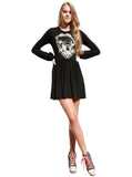 Bride Of Frankenstein Long Sleeve Skater Dress - IDILVICE Clothing - 2