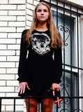 Bride Of Frankenstein Long Sleeve Skater Dress - IDILVICE Clothing - 3