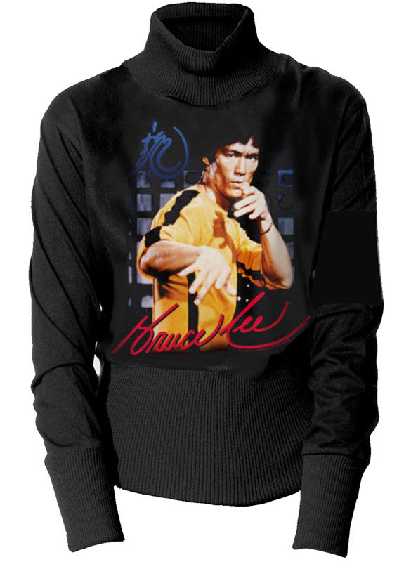 Bruce Lee Jeet Kune Do Yellow Turtleneck Sweater - IDILVICE Clothing - 2