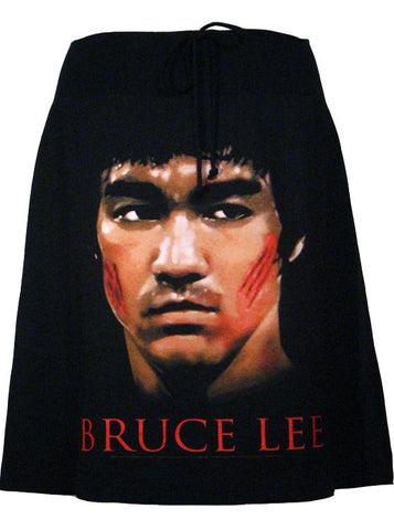Bruce Lee Fighter Photo Print T-Shirt Skirt