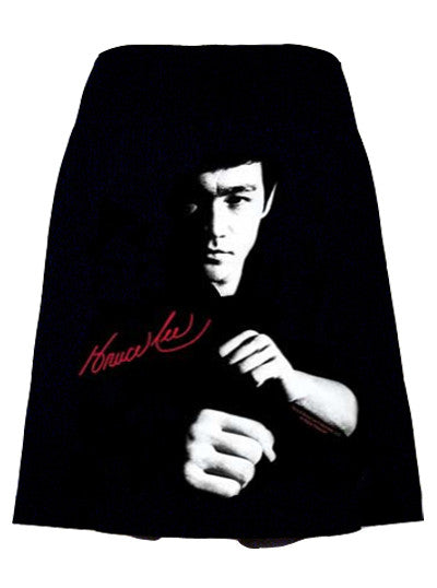 Fight Ready Bruce Lee Photo Print T-Shirt Skirt - IDILVICE Clothing