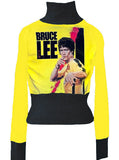Bruce Lee Jeet Kune Do Yellow Turtleneck Sweater - IDILVICE Clothing - 1