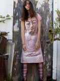 Buddha Face Spiritual Zen T-Shirt Dress - IDILVICE Clothing - 5