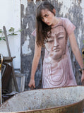 Buddha Face Spiritual Zen T-Shirt Dress - IDILVICE Clothing - 3