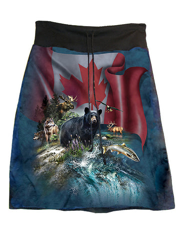 Canada The Beautiful A-Line Skirt