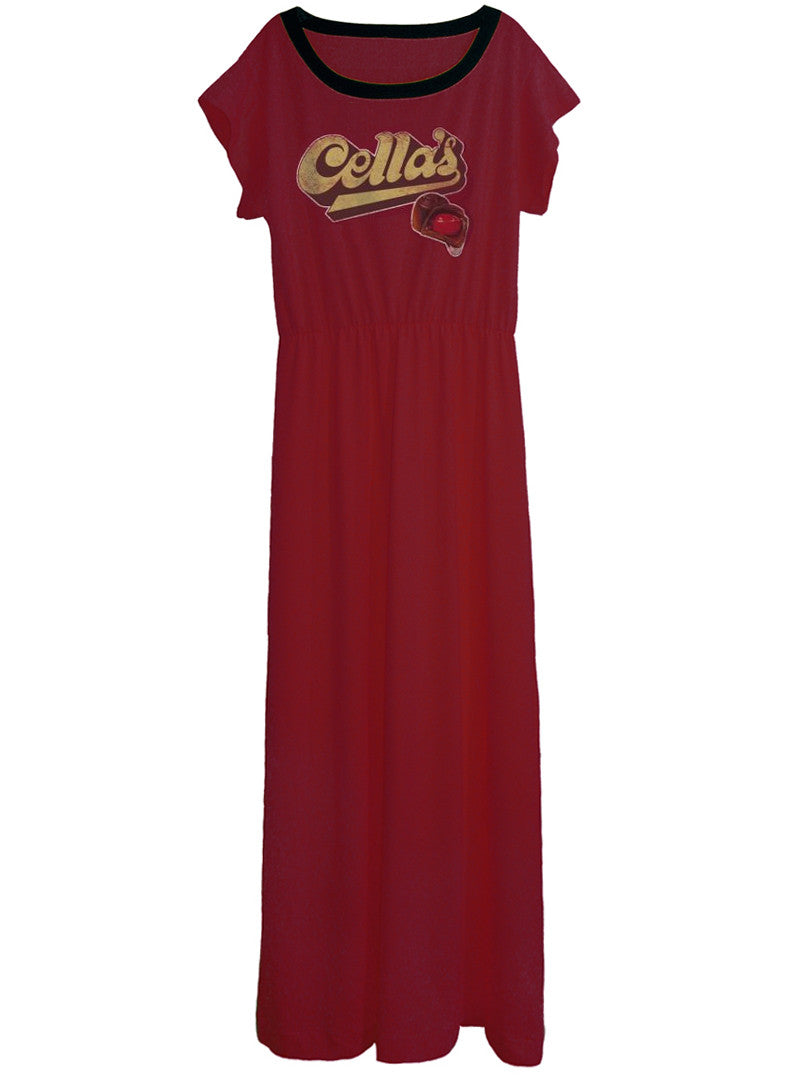 61c6db0ceba34 Cella's Chocolate Covered Cherry Candy Long Maxi Dress Gown