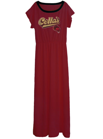 Cella's Chocolate Covered Cherry Candy Long Maxi Dress Gown