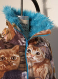 Cat & Kittens Fake Fur Fleece Track Jacket - IDILVICE Clothing - 4