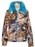 Cat & Kittens Fake Fur Fleece Track Jacket - IDILVICE Clothing - 2