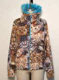 Cat & Kittens Fake Fur Fleece Track Jacket - IDILVICE Clothing - 6