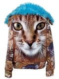 Cat & Kittens Fake Fur Fleece Track Jacket - IDILVICE Clothing - 1