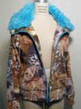 Cat & Kittens Fake Fur Fleece Track Jacket - IDILVICE Clothing - 5
