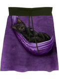 Black Cat Pouch Tie Dye Aline Drawstring Skirt - IDILVICE Clothing - 1