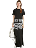 Cheap Trick Typewriter Graphic Maxi T-Shirt Dress - IDILVICE Clothing - 1