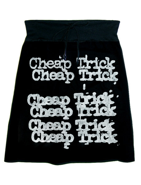 Cheap Trick Typewriter Letters Print Sweat Skirt - IDILVICE Clothing