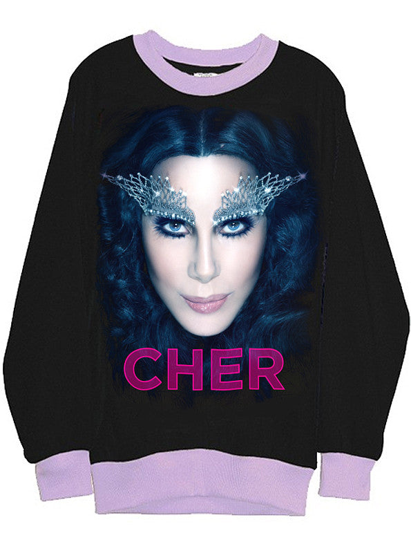 Cher Goddess Two Tone Organic Sweatshirt - IDILVICE Clothing