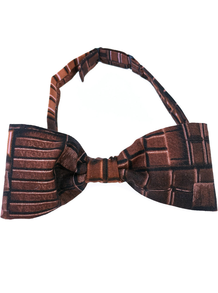 Dark Chocolate Bar Printed Bow Tie - IDILVICE Clothing