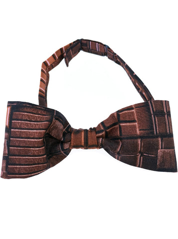 Dark Chocolate Bar Printed Bow Tie