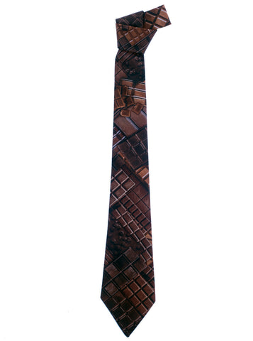 Chocolate Bars Print Necktie