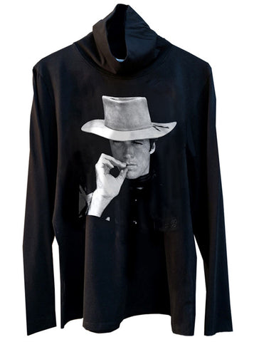 Clint Eastwood Western Cowboy Turtleneck Sweater