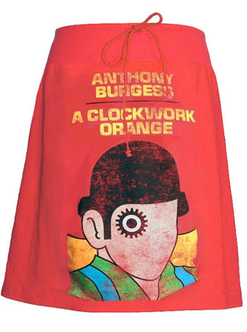 A Clockwork Orange Distressed Print T-Shirt Skirt