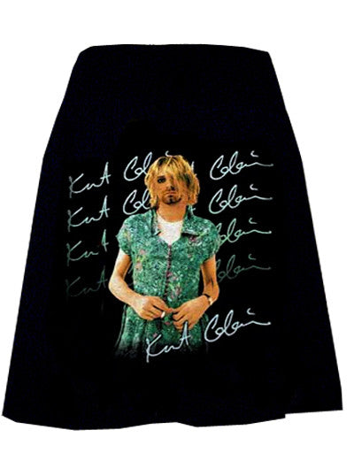 Kurt Cobain In Dress Photo Print T-Shirt Skirt
