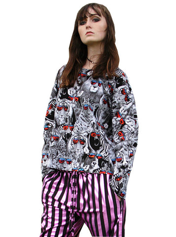 Cool Safari Animals Cotton L/S Top