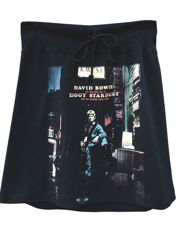 David Bowie Ziggy Stardust Aline Drawstring Skirt
