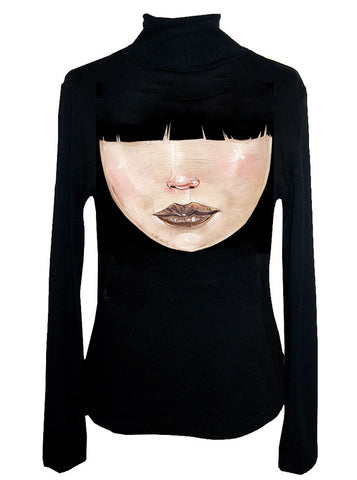 David Choe Bangs Turtleneck Sweater
