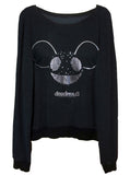 Deadmau5 Silver Foil Printed Sweater Jumper - IDILVICE Clothing - 1