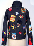 Denim Jeans Jacket With Patches - IDILVICE Clothing - 2