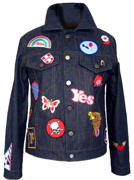 Denim Jeans Jacket With Patches - IDILVICE Clothing - 1