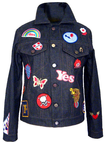 Denim Jeans Jacket With Patches