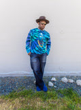 DMX by Carl Posey Tie Dye Cotton Men's Long Sleeve Crewneck Sweater