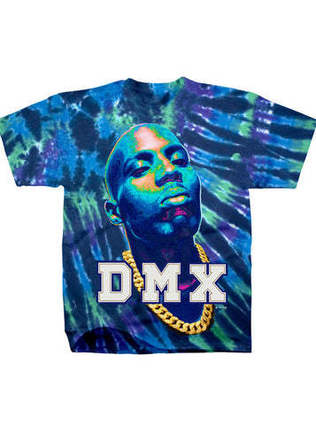 DMX Carl Posey Varcity Patches Cotton Tie Dye Men's T-Shirt