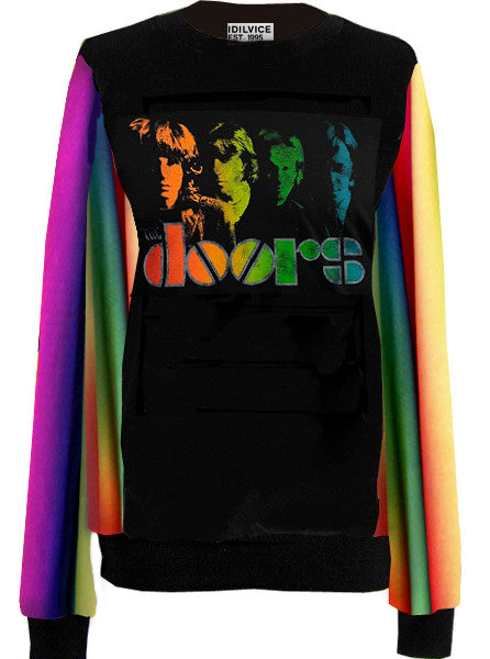 The Doors Rainbow Sprectrum Sweater Top - IDILVICE Clothing