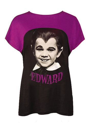 Edward The Munsters Photo Two Tone Top