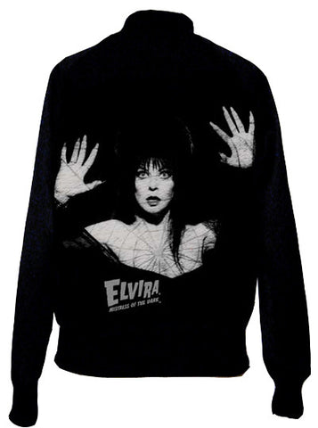 Elvira Spider Web Satin Varcity Jacket