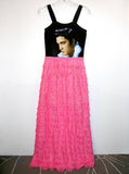 Elvis Presley 1950s Ruffle Maxi Dress Gown - IDILVICE Clothing - 3