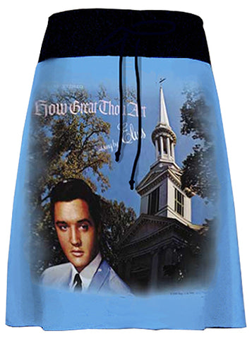 Elvis Presley Sunday Church Photo Print Women's Aline T-Shirt Skirt