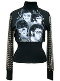 Elvis Presley Las Vegas Gold Collage Turtleneck Sweater - IDILVICE Clothing - 2