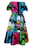 Elvis Presley Gypsy Ruffle Dress - IDILVICE Clothing - 1