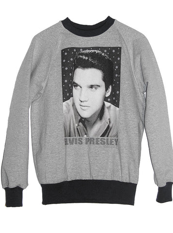 Elvis Presley Preppy Heather Fleece Sweatshirt
